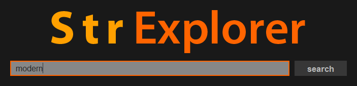 Searchbar - StrExplorer
